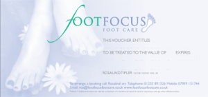 CLICK TO DOWNLOAD TREATMENT VOUCHER - Foot Focus Foot Care.